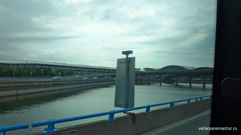 Шанхай, дорога из аэропорта в город