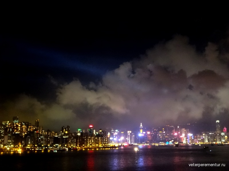 Гонконг, лазерное шоу
