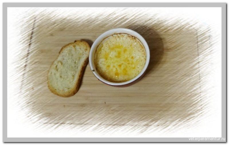 Garlic bread and fondue