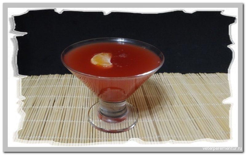 Вишнево-персиковое желе