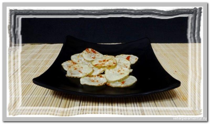Чипсы из картофеля в микроволновке
