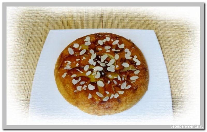 Персиковый перевернутый пирог