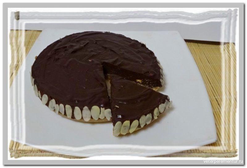 Шоколадный тарт с Куантро и орехами