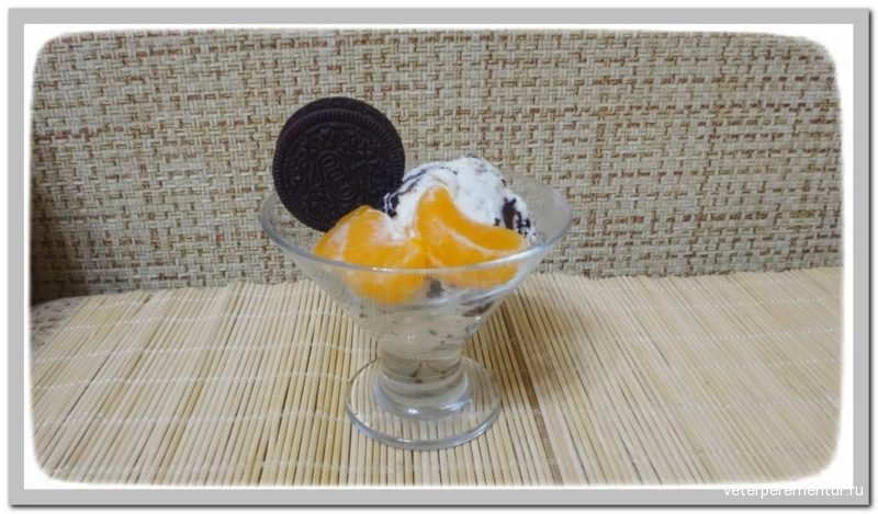 Мороженое с печеньем Oreo