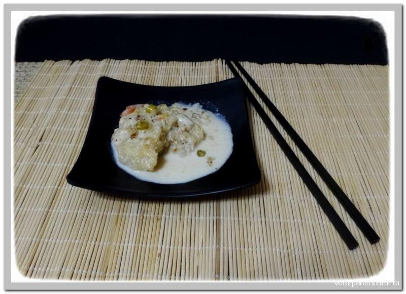 Треска в тайском стиле с кокосовым молоком