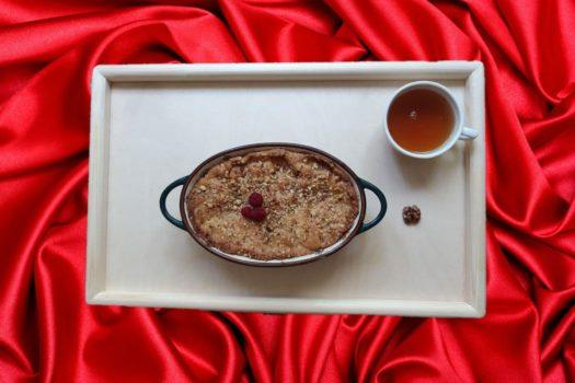 Пирог Коблер с персиками
