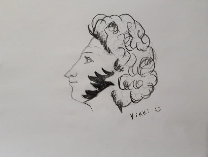 Рисунок Пушкин