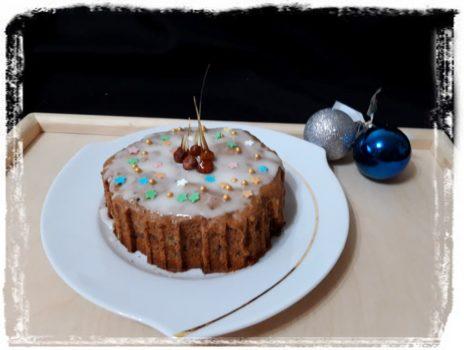 Рождественский кекс с имбирем и клюквой