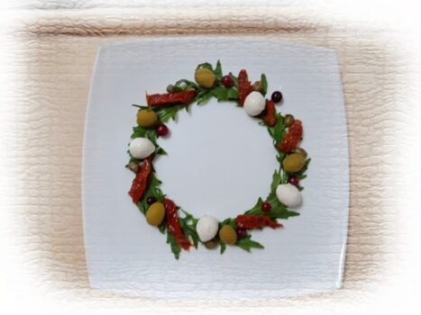 Рецепт салата Рождественский венок