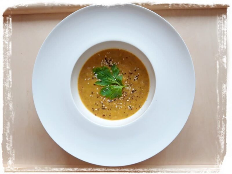 Рецепт Суп из сельдерея с вином