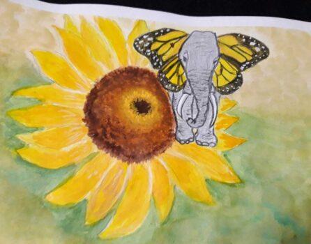 Слон с ушами как крылья бабочки