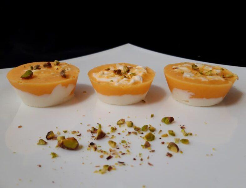 Рецепт Мороженое с мандаринами Оранжевый рассвет