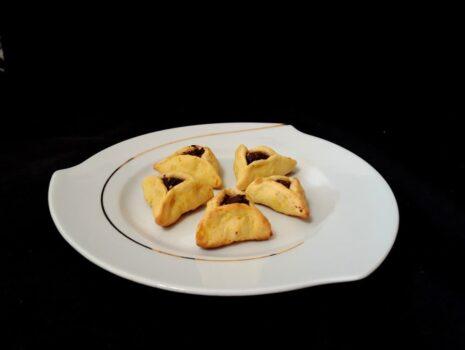 Рецепт Апельсиновое печенье с шоколадно-ореховой начинкой