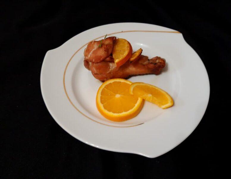 Голень индейки с апельсинами