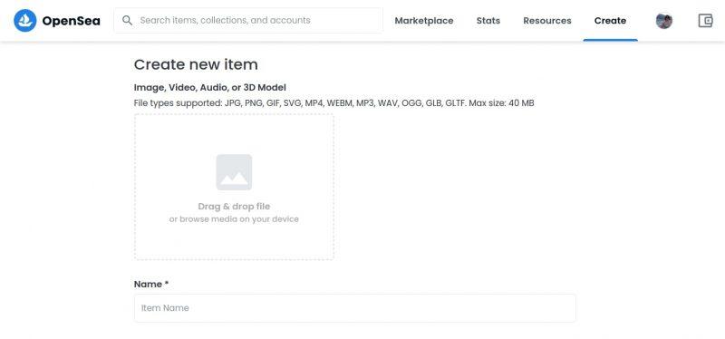 Как создать NFT и продать на marketplace OpenSea